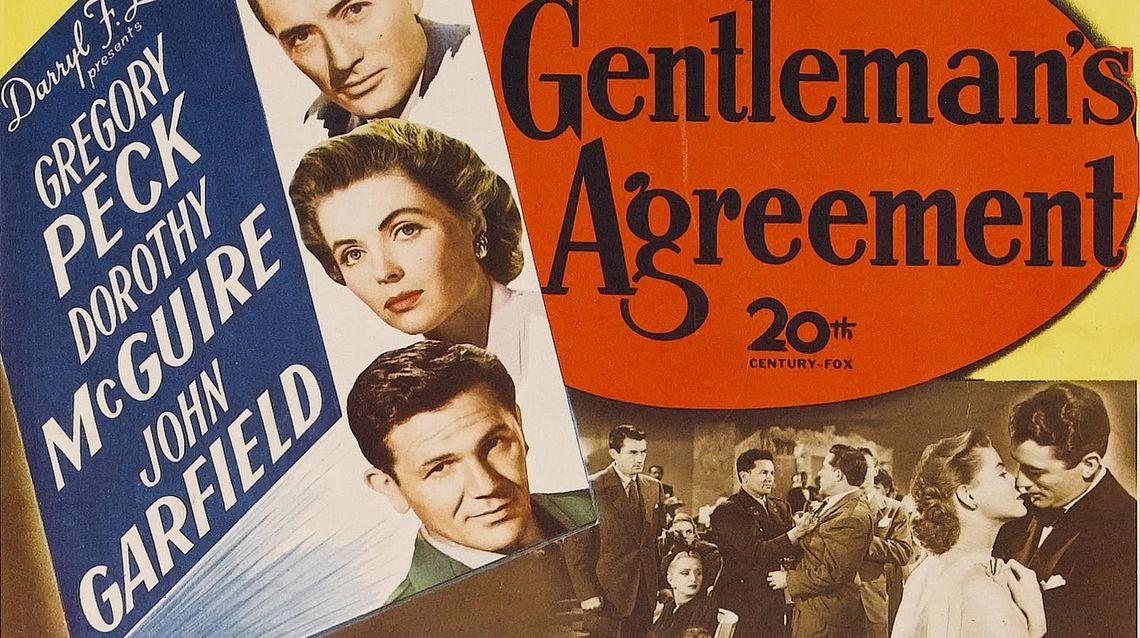 Gershman Philadelphia Jewish Film Festival at Lightbox Film Center. An American journalist (Gregory Peck) poses as a Jew to research an exposé on anti‐Semitism in New York City and the affluent community of Darien, Connecticut.
